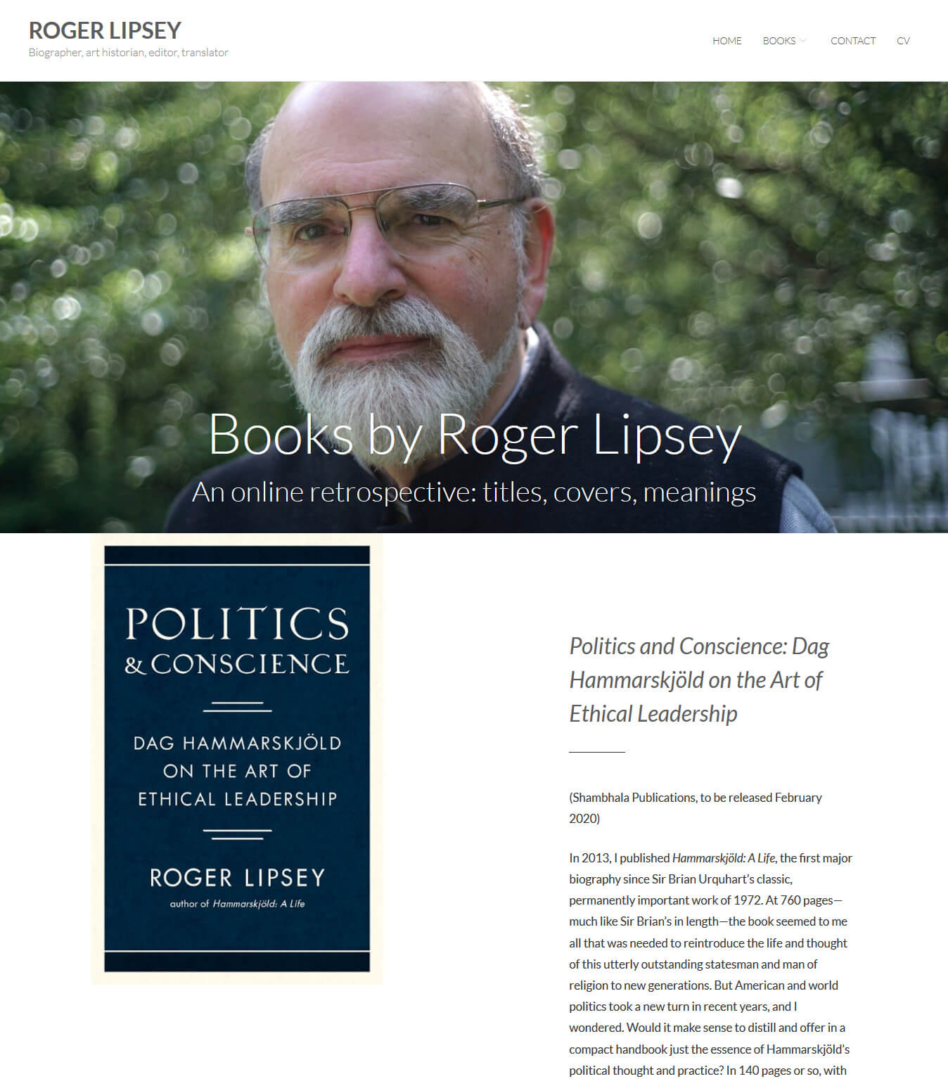 Roger Lipsey - Author, Biographer, Art historian, Editor, Translator