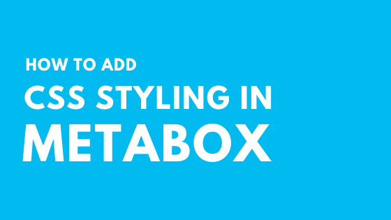 add css styling to metabox