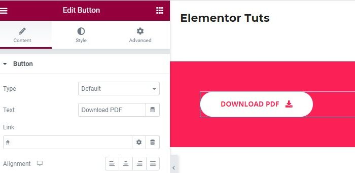links to PDF in elementor featured image new